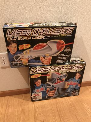 Vintage 1996-1997 laser challenge toys in box for Sale in Troutdale, OR