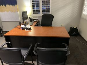 Used Office Furniture (Desk) Best Offer for Sale in Alexandria, VA