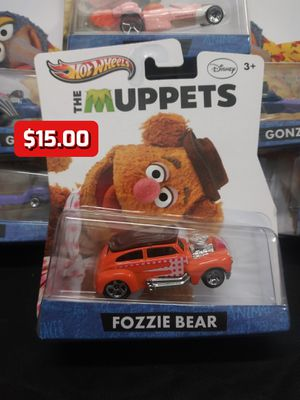 2012 Hot Wheels The Muppets Disney Fozzie Bear Collector Character Cars 1:64 Rare for Sale in Oakland, CA