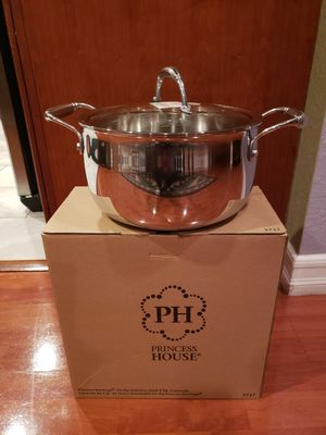 Princess House Tri-Ply Stainless Steel 5 Qt. Casserole - NEW for Sale in Rialto, CA