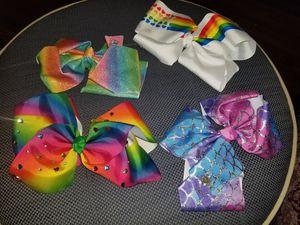 Jojo siwa hair bows hair clips, 4 for $5! for Sale in Homestead, FL