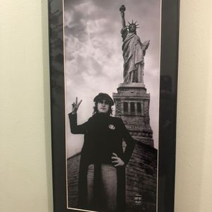 John Lennon Statue Of Liberty Print for Sale in New Haven, CT