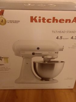 Brand New (Unopened) Kitchenaid 4.5 Qt Tilt-Head Stand Mixer for Sale in SeaTac,  WA