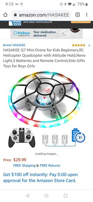 Mini Drone for Kids Beginners,RC Helicopter Quadcopter with Altitude Hold,Neno Light,3 Batteries and Remote Control,Kids Gifts Toys for Boys Girls for Sale in Tampa, FL
