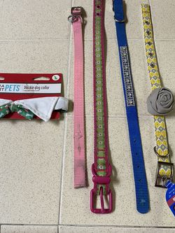 5 Different Sizes Dog Collars - 2 New- 3 Slightly Used $3 Each for Sale in Fresno,  CA
