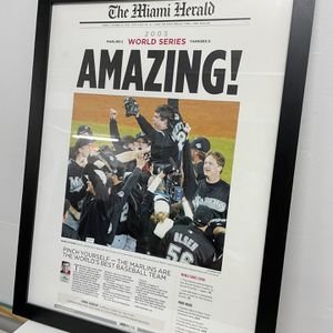 2003 Florida Marlins Championship Frames Poster for Sale in Miami, FL