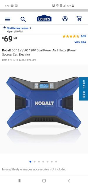 KOBALT 12V Dual Power Inflator for Sale in Northbrook, IL