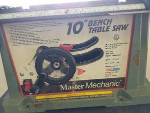 "Master Mechanic 10"" bench table saw for Sale in Hazel Park, MI"