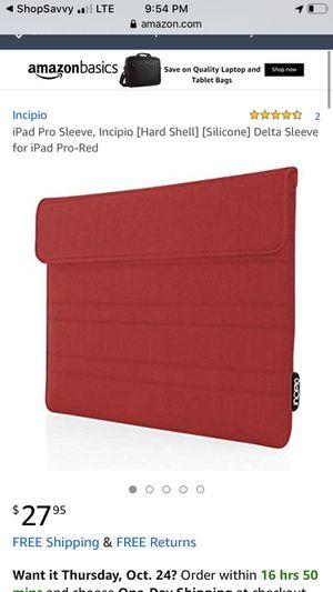 iPad Pro Sleeve, Incipio [Hard Shell] [Silicone] Delta Sleeve for iPad Pro-Red iPad Pro Sleeve, Incipio [Hard Shell] [Silicone] Delta Sleeve for iPa for Sale in Long Beach, CA