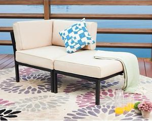 SHIPPING ONLY 2 Piece Patio Furniture Set Day Bed Couch Arm Chair Ottoman for Sale in Las Vegas, NV