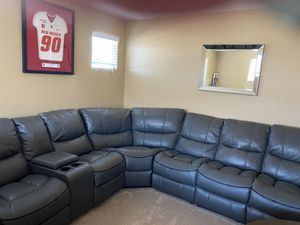 Sectional couch recliners in three different places for Sale in North Las Vegas, NV