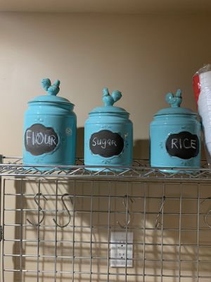 Kitchen canisters rice, flour, sugar for Sale in Queens, NY