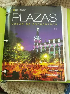 Plazas 5th edition for college Spanish 1&2 for Sale in Sebring, FL