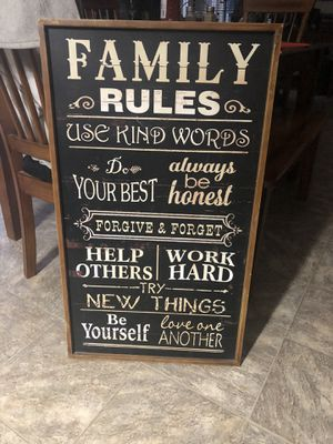 Family rules sign $20 for Sale in Lugoff, SC