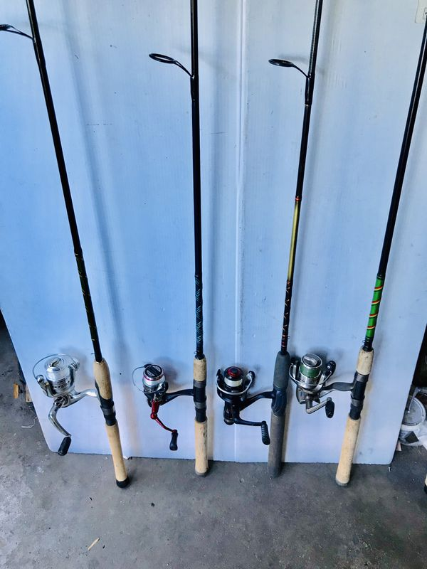 Fishing rods with reels $50 Each