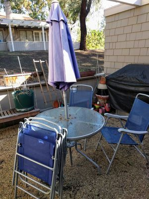 Outdoor table and chairs for Sale in San Diego, CA