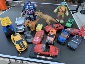 Lots of Toy cars and dinosaurs for Sale in Las Vegas, NV