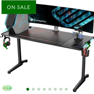 """Eureka Ergonomic® Gaming Computer Desk 55"""" Home Office Gaming PC Table , I-Shaped Game and Work Station with New Polygon Legs Design, RGB LED Lights, for Sale in Hacienda Heights, CA"""