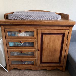 Solid Wood Changing Table for Sale in Nellis Air Force Base, NV