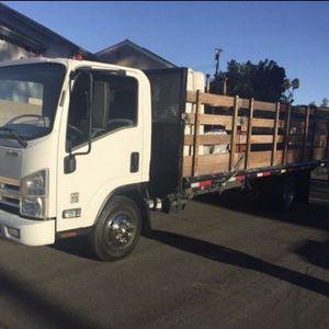 ISUZU NPR 18 FEET FLATBED CARB COMPLIANT TRUCK - Diesel for Sale in Las Vegas, NV