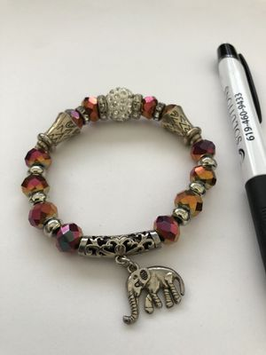 Thai - women's bracelet- with elephant charm for Sale in Poway, CA