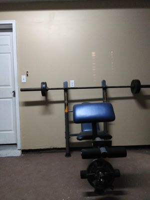 BENCH AND WEIGHTS for Sale in Denver, CO