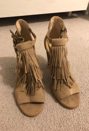 Suede fringe sandals for Sale in Waianae, HI