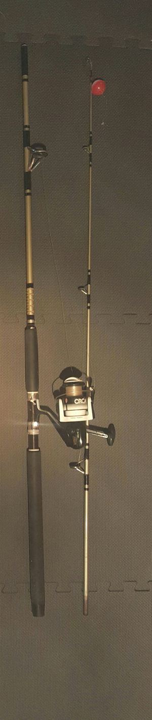 Zebco 8' fishing rod with Orca 70 Spin Cast Reel for Sale in Brooklyn, NY