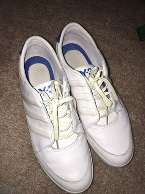Y-3 / ADIDAS - YOHJI YAMAMOTO Honja Low Leather Trainers - White / Blue - Size 11 1/2 for Sale in Broomfield, CO