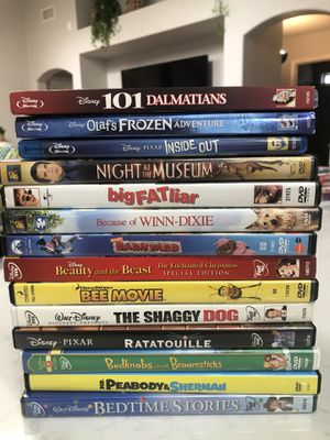 Children's DVD's and Children's Blue Rays, Disney, Paramount, for Sale in Mesa, AZ