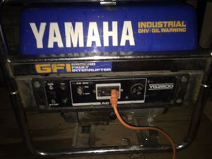 2600 w yamaha gas generator great deal great condition for Sale in Ephrata, PA