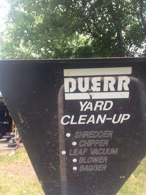 Duerr #655, 5hp shredder, chipper, leaf vacuum, blower, bagger. for Sale in Redford Charter Township, MI