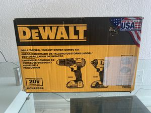 DEWALT 20V MAX Impact Driver and Drill Combo Kit (DCK280C2) for Sale in Miami, FL