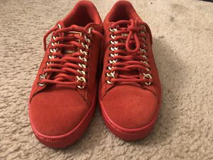 Women's Red Suede Puma Size 8 for Sale in Washington, DC
