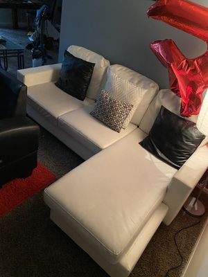 White leather couch for Sale in Landover, MD