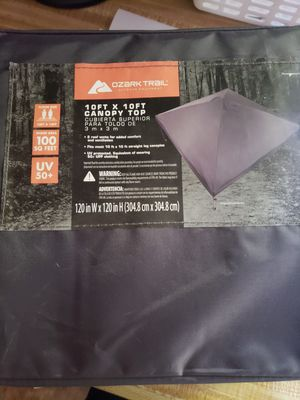 Ozark Trail 10x10 Replacement Canopy for Sale in Hopewell Junction, NY