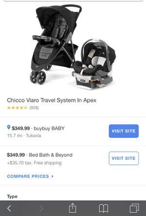 Chicco® Viaro Travel System in Apex for Sale in Puyallup, WA