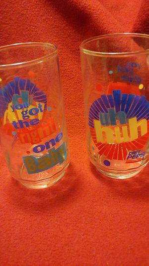 Antique Diet Pepsi 2 matching glasses for Sale in Mesa, AZ