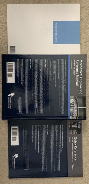Mechanical Engineering Reference manual for PE exam for Sale in Los Angeles, CA