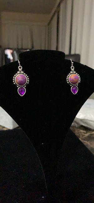 Sterling silver moonstone woman earrings for Sale in Huntington Beach, CA