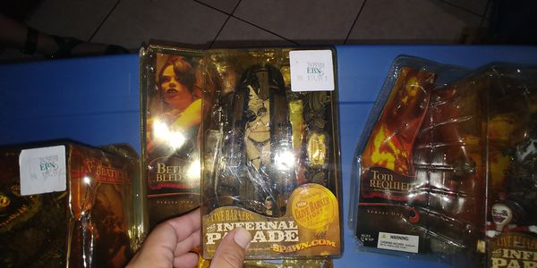 Clive Barkers THE INFERNAL PARADE action figures.. Packaging damaged but new sealed...$20 each.. Thanks!!🙏🏼