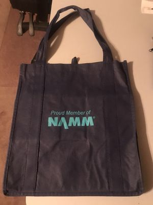 Namm 2020 Guitar & amps and drum show Namm tote bag for Sale in Anaheim, CA