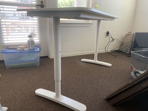 """IKEA adjustable desk, white, 55 1/8"""";23 5/8"""" for Sale in Albany, CA"""