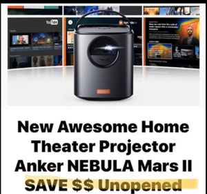 Anker Nebula Mars II SAVE BIG $$ Quick Shipping Home Theater Projector for Sale in West Chicago, IL