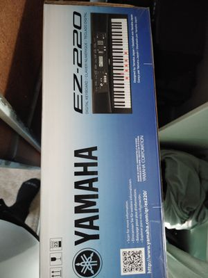 Brand spanking Yamaha ez220 with headphones stand and amp all never used still in box for Sale in Hacienda Heights, CA