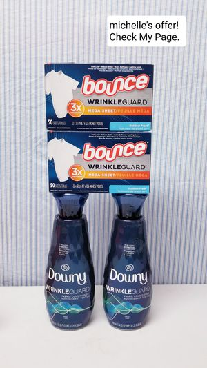 Downy/Bounce wrinkle guard set for Sale in Clinton, MD