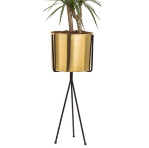 Kimisty BIRD Gold Planter Pots & Flower Pot With Metal Tripod Stand Set 2 for Sale in Phoenix, AZ