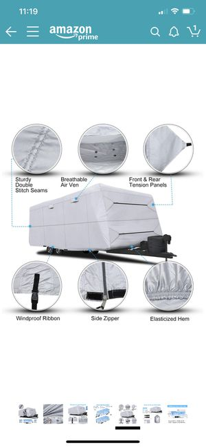 """RVMasking Waterproof Travel Trailer Cover 22'1"""" with Free Adhesive Repair Patch & 4 pcs Windproof Strap, Easy Set Up & Durable RV Cover for Sale in Temecula, CA"""