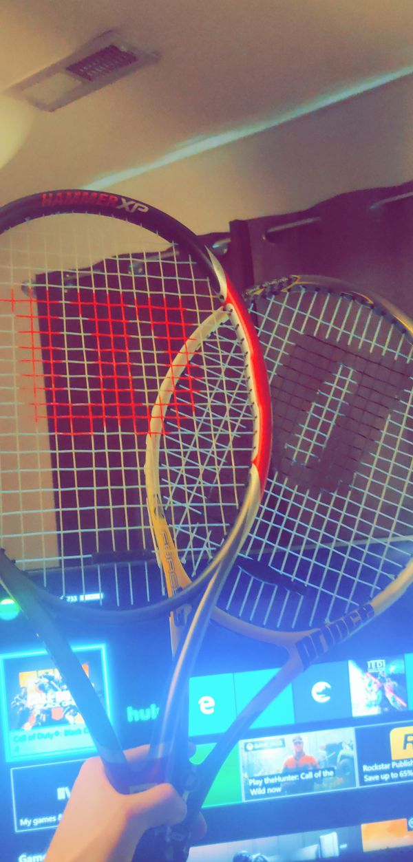 Wilson and Prince professional Tennis Rackets
