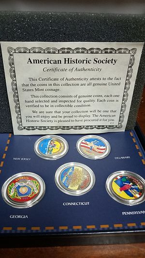 Used, Complete Colorized 20th Century State Quarter Collection for Sale for sale  Queens, NY